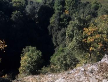 sul bordo del pozzo del Merro