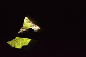 all'interno delle gallerie presso il Fosso degli Olmetti