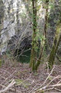 si intravvede il fondo di Fossa Ampilla