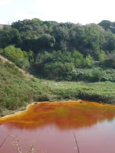 la solforata di Pomezia il lago vermiglio 1