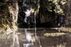 la cascata della mola allo sbocco del fosso della Torraccia - foto di Giovanni Giuliani