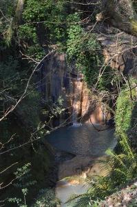 fosso dell'Acqua Forte cascata ferrosa