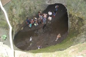 vista dall'alto delle gallerie etrusche