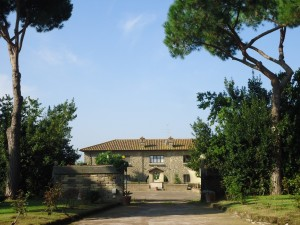 il paesaggio nei pressi di Roma La Castelluccia