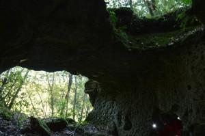 Particolare di Castel Porciano presso il Fiume di Smeraldo