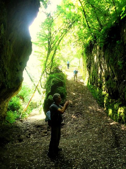 segreti dei falisci Tagliata d'accesso al Castello d'Ischia
