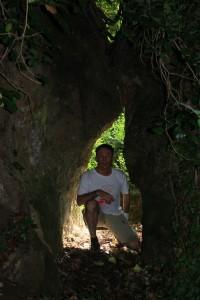 il varco fra le rocce per la grotta dell'Arnaro