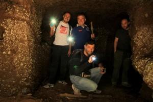 In una delle cavità della Tagliata Grotte delle Cave