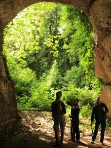 particolare delle Cave di Grotta Oscura