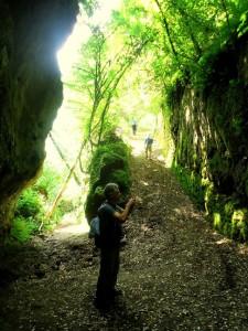 Tagliata d'accesso al Castello d'Ischia con immagine votiva