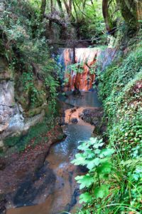 Formello - Parco di Veio - cascata rossa presso il fosso di S. Antonino