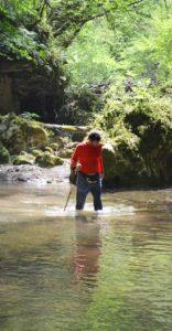 guadi verso la cascata di Ponte Lupo