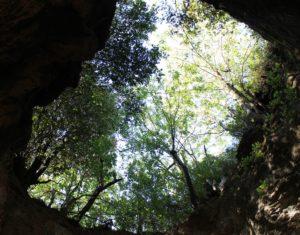 Nelle volte delle cave di Salone si aprono fori giganteschi