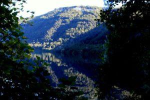 Il lago di Albano presso un luogo segreto