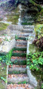 segreti a Sacrofano - misteriosa scala nella roccia
