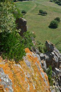 Le pareti a picco dei Sassoni di Furbara