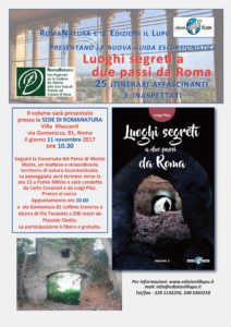 Luoghi segreti e Mass Media - Presentazione a Roma Natura