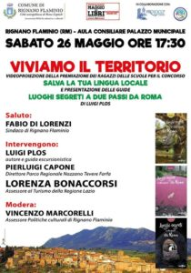 Terza guida e presentazioni seconda edizione: Rignano - 26/05/18