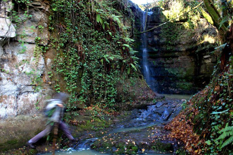 La cascata sotto il Casalaccio (15 chilometri da Roma)