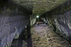 le strade dei romani - dove la strada da Veio al Tevere sottopassa la via Flaminia