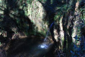 Le dieci cascate di Cerveteri - la cascata della Macchia della Signora
