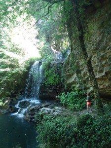 Le dieci cascate di Cerveteri - la cascata fra Sasso e Cerveteri