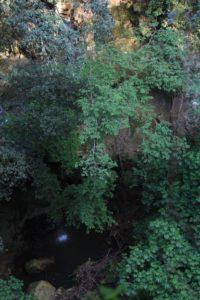 la forra con cascata sotto la torre della Bufalotta