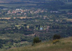 panoramica su Villa Adriana salendo a S. Angelo in Arcese
