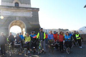 La partenza da Ponte Milvio per Valle Vescovo...