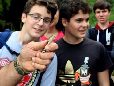 Ragazzi e avventura - biscia dal collare presso Castelnuovo di Porto