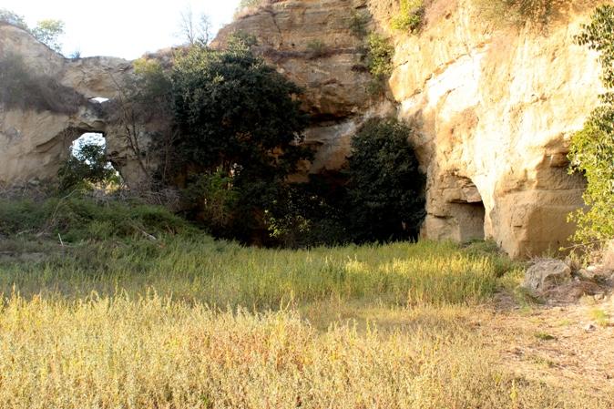 Entrando nelle cave di Castelnuovo di Porto