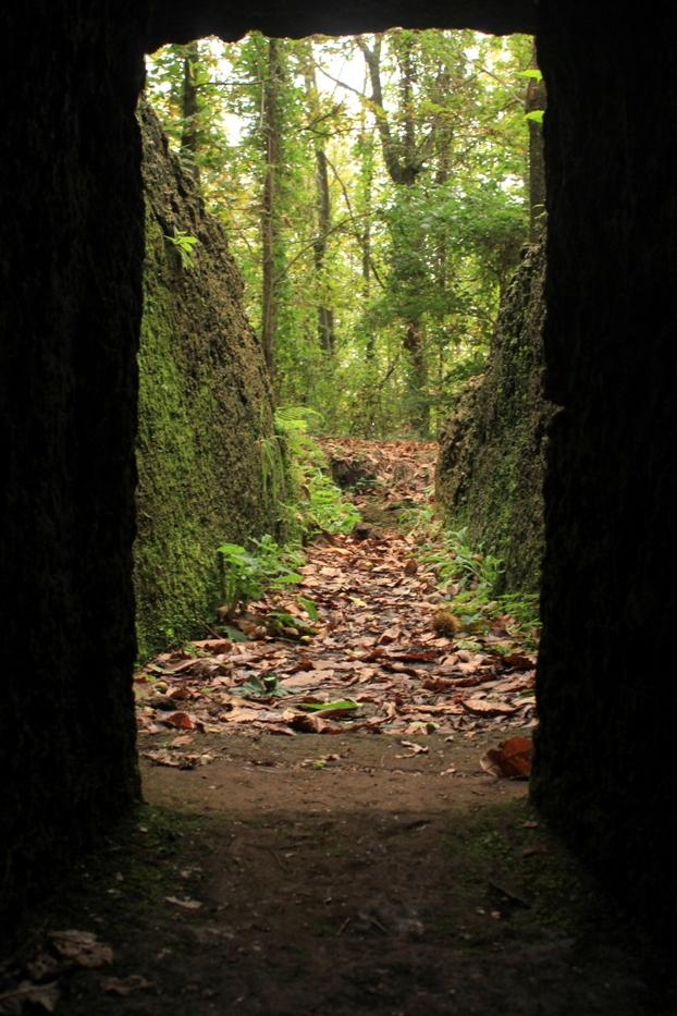 all'interno delle grotticelle di Rocca di Papa