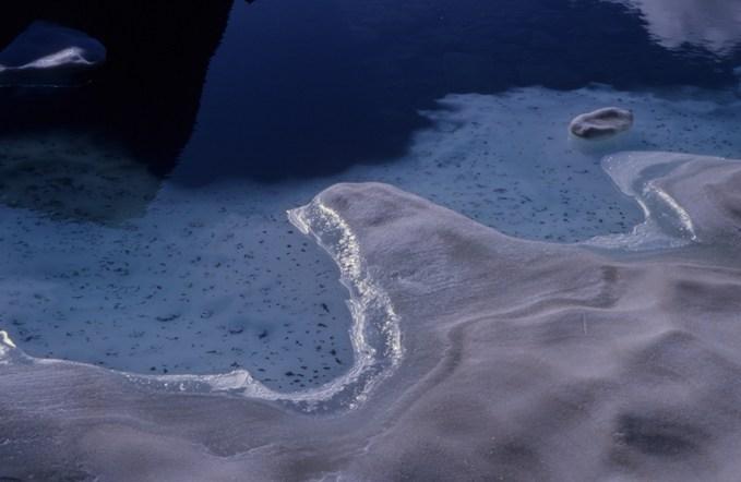 luoghi segreti e cambiamento climatico - il ghiaccio del Carè in fase di scioglimento