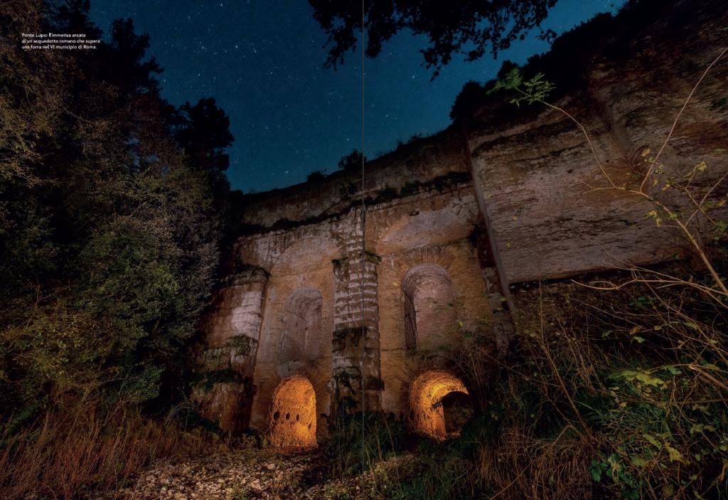 National Geographic e luoghi segreti - inverno 2018 - Il Ponte Lupo - VI municipio di Roma - Traveler inverno 2018 - foto di Paolo Petrignani