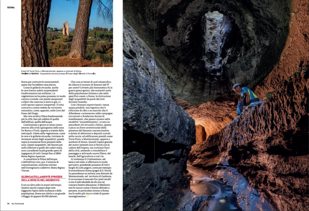 National Geographic e luoghi segreti - inverno 2018 - nelle gallerie etrusche