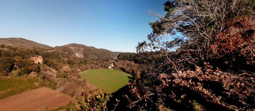 Panorama dall'alto di Castel Dannato