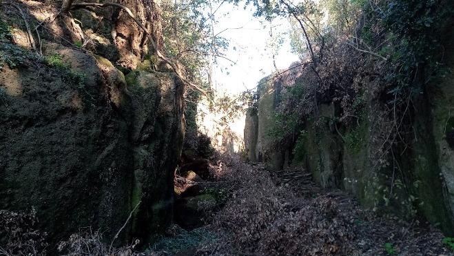 la via cava sotto Castel Dannato