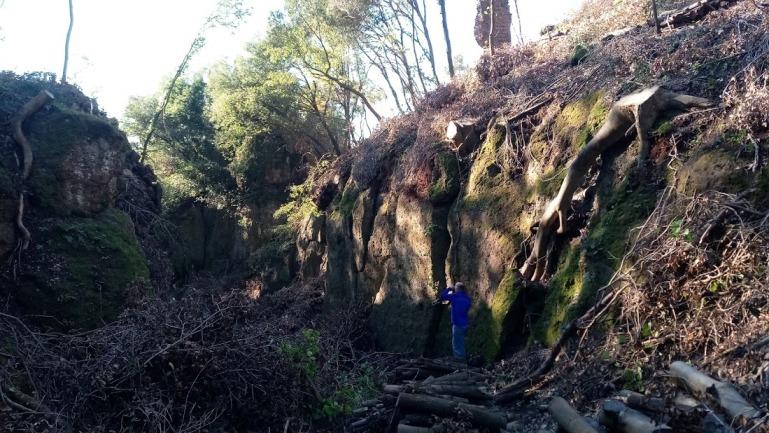 Castel Dannato e la via Cava