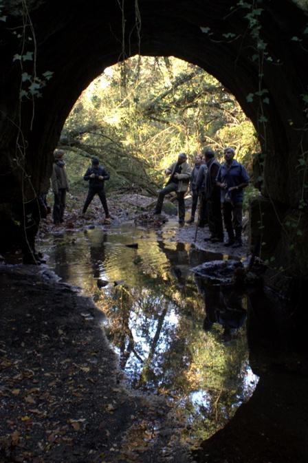 all'interno del quadrilatero formato dai ponti romani nel fosso dell'Acqua Nera
