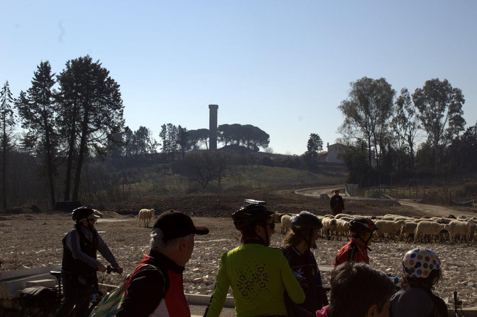 in vista di Torre Molinario lungo il grande anello in bici di Roma Nord