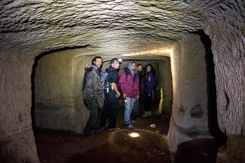 esplorare i luoghi segreti - Nei sotterranei di Villa Chigi - foto di S. De Francesco