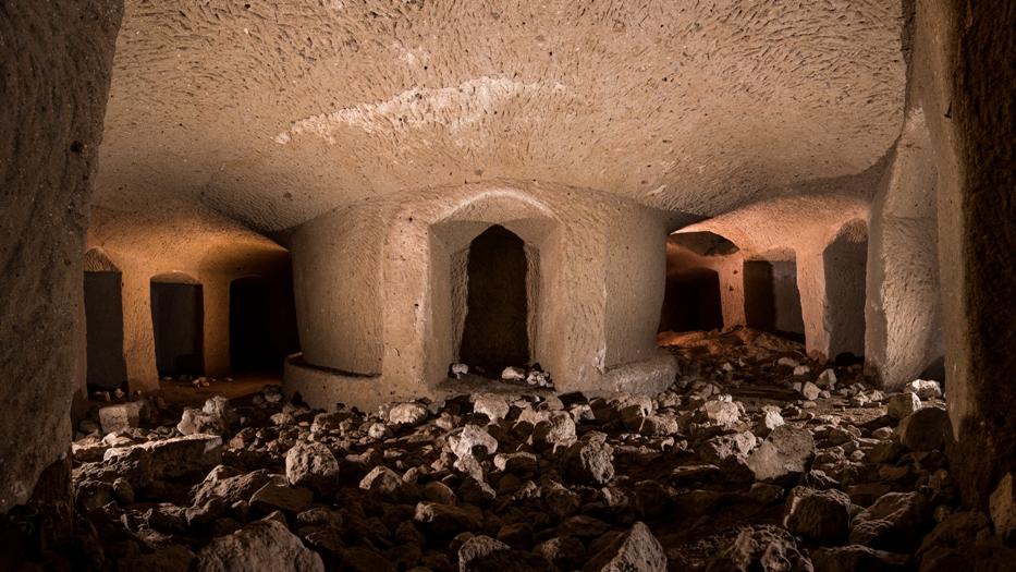 escursioni del 2019 all'interno dei sotterranei di Villa Chigi - presso il Sasso del Predicatore