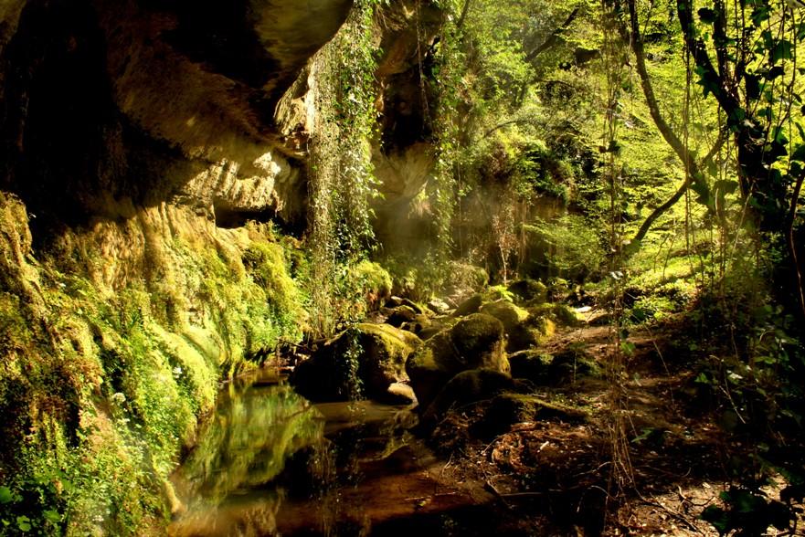 acqua trekking nei dintorni di Roma lungo il Crèmera - presso la la galleria vegetale