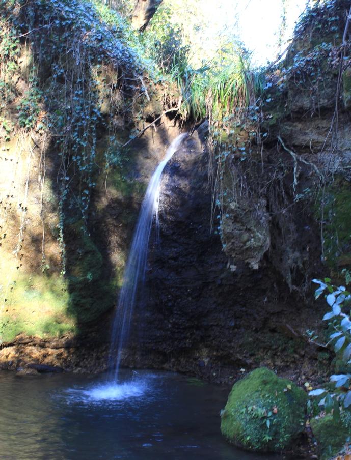 La cascata della Macchia della Signora.