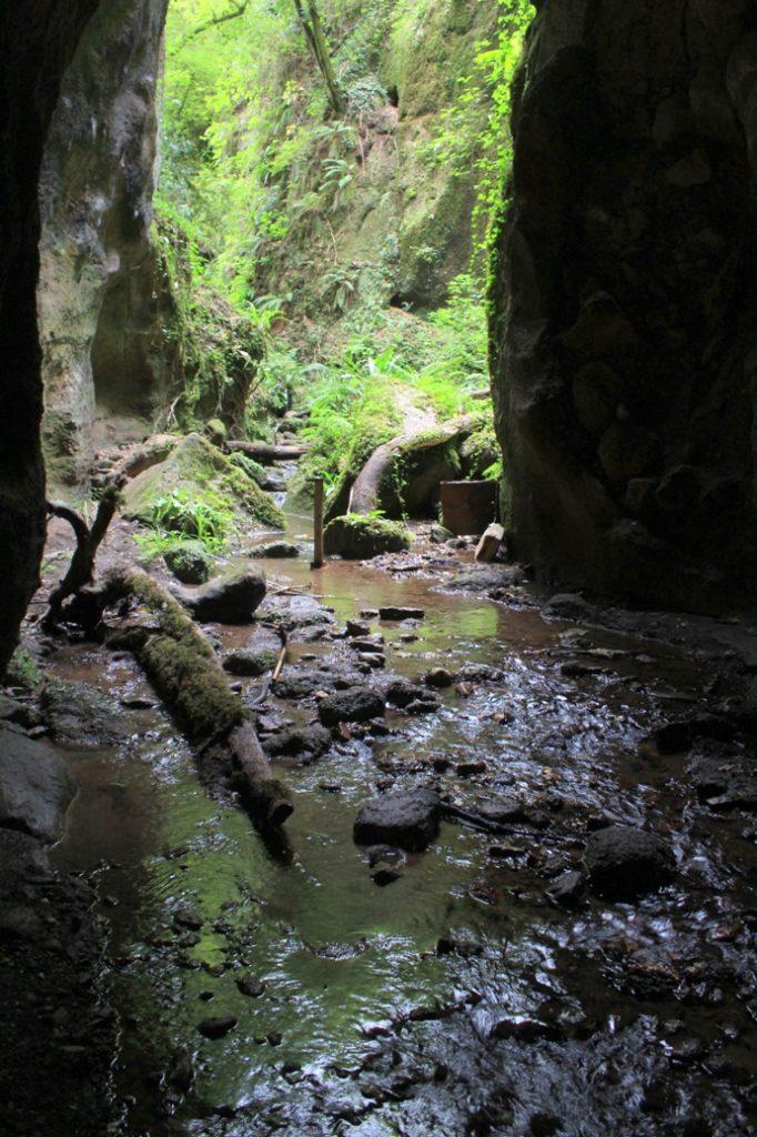 nella galleria attiva del fosso di Ponte Terra