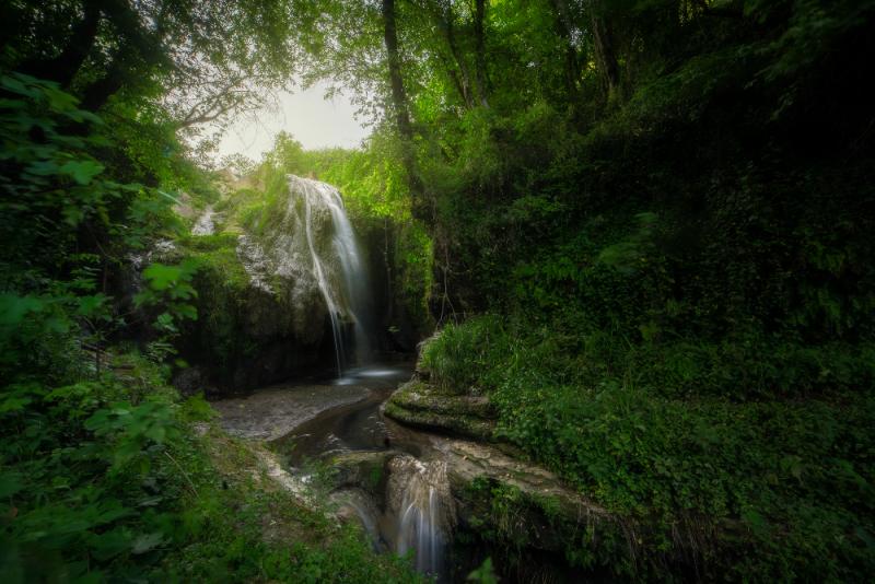Cascata nel parco di Veio - foto di Roberto Giancaterina - dalla via Clodia alla Polense