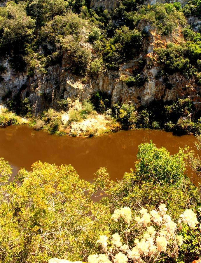 vista dall'alto sulLa cava di caolino di Santa Severa