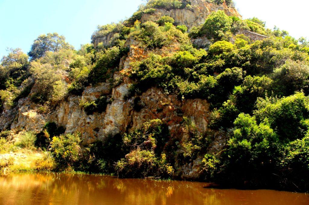 particolare della cava di caolino di Santa Severa