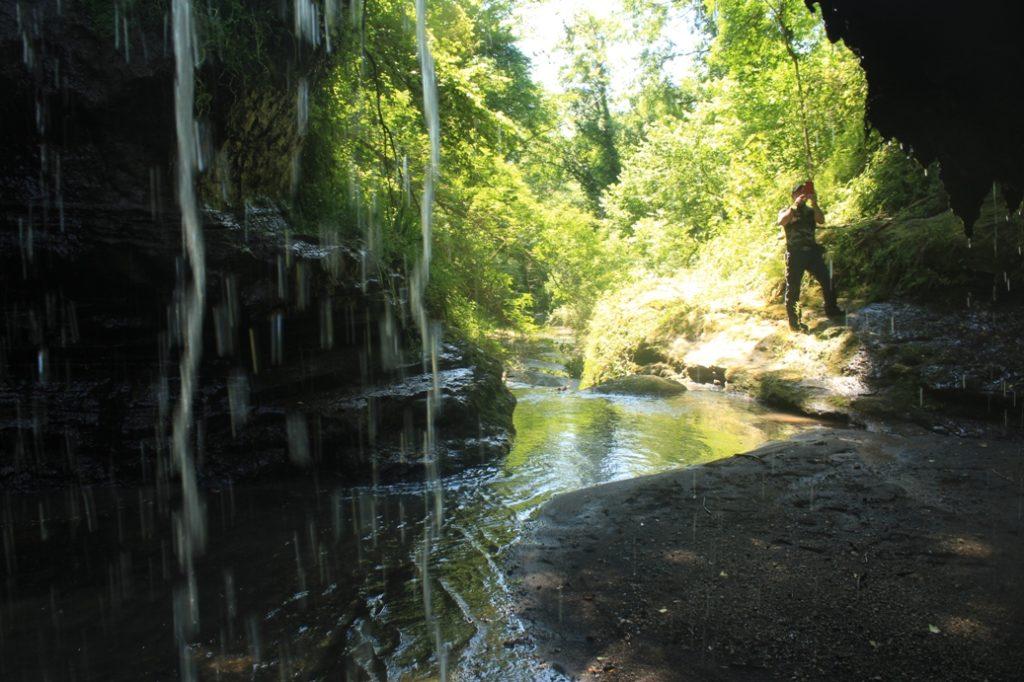 escursioni del 2019 la cascata del fosso dell'Ogliararo a 15 Km da Roma