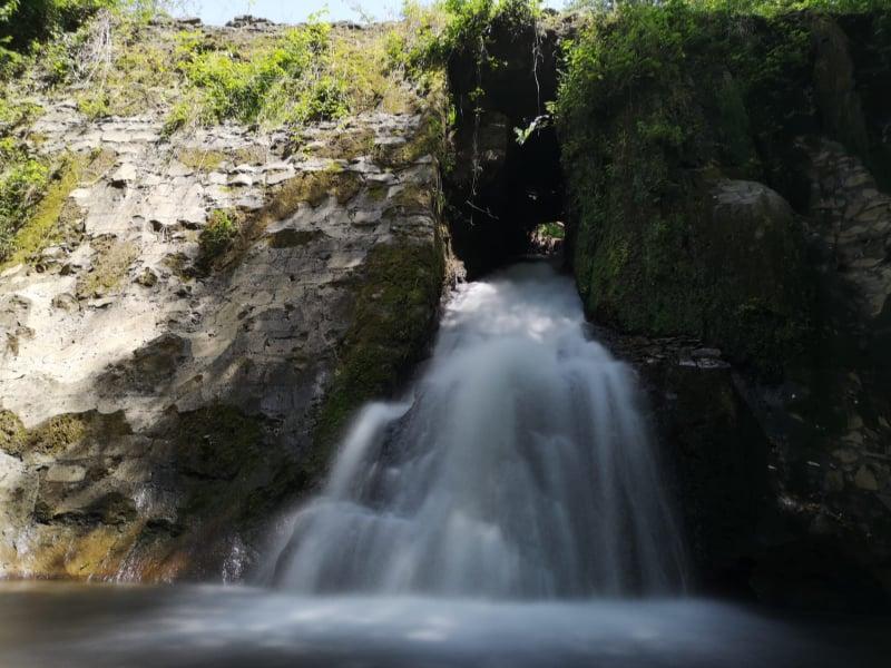 acqua trekking - una delle due nuove cascate della Moletta di Mezzo